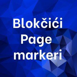 Blokčići Page markeri