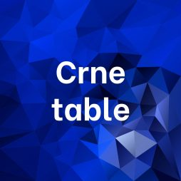 Crne table