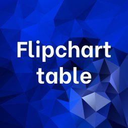 Flipchart table