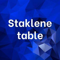 Staklene table