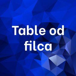Table od filca