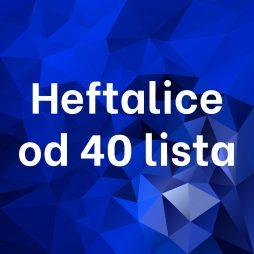 Heftalice od 40 lista